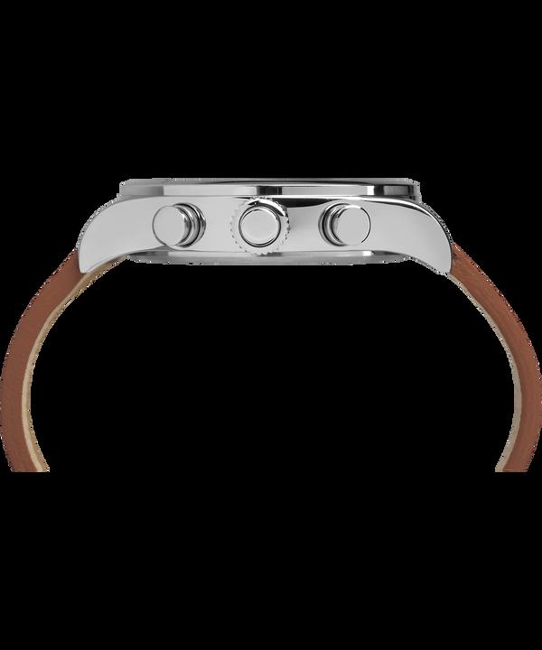 Waterbury Traditional 42 mm con cinturino in pelle Stainless-Steel/Brown/Black large