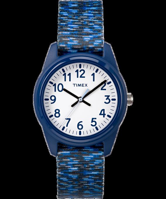 Kids Analog 32mm Digipattern Nylon Strap Watch Blue/White large