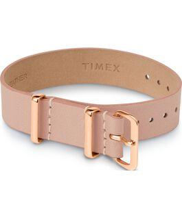 Cinturino a scorrimento in pelle strato singolo da 16mm tonalità oro rosa Cuoio large