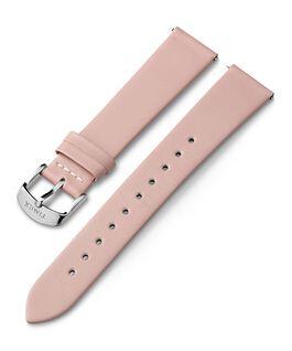 Cinturino in pelle da 18 mm con fibbia silver Rosa large