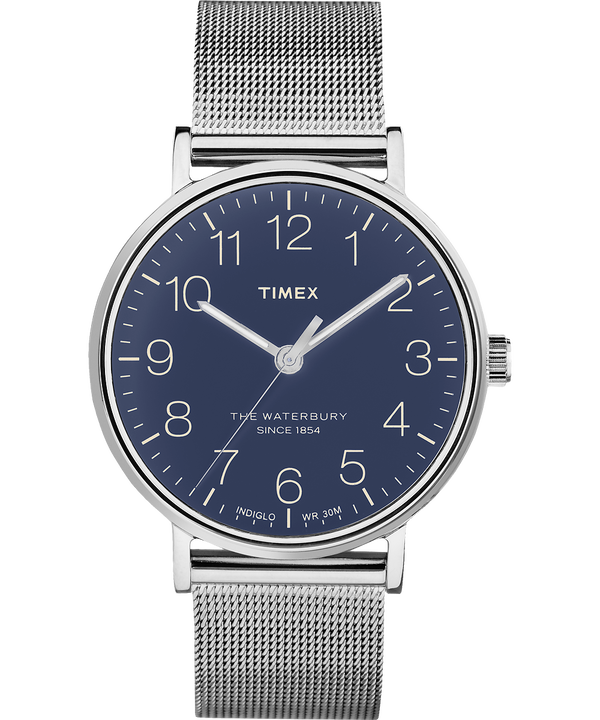 Orologio Waterbury Classic 40 mm con bracciale in maglia mesh  Stainless-Steel/Blue large