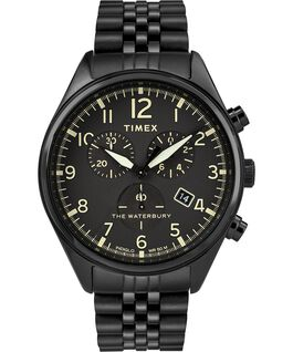 Waterbury Traditional Chronograph 42mm braccialato Nero large