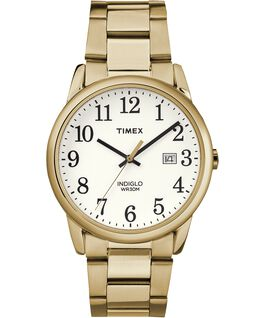 Easy Reader Date 38 mm braccialato Gold-Tone/White large