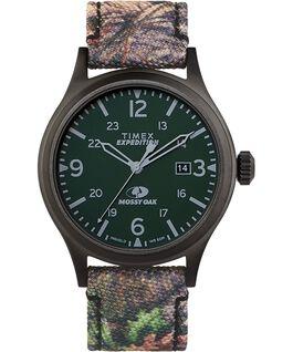 Orologio Timex x Mossy Oak Expedition Scout 40 mm con cinturino in tessuto Nero/Marrone large