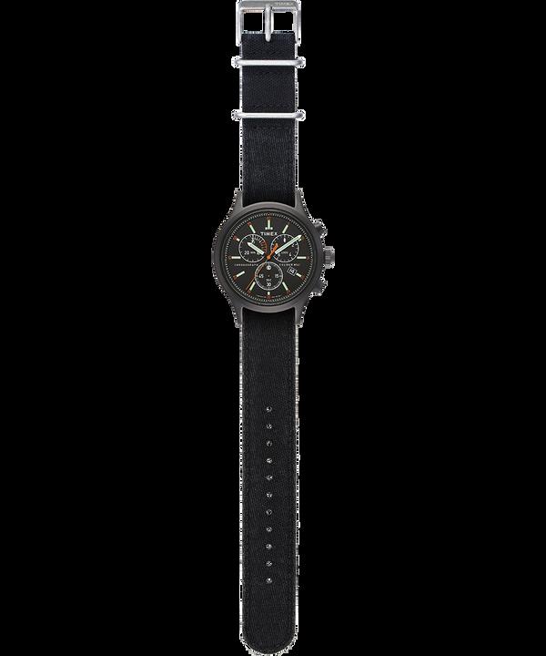 Orologio con cinturino in denim delavato Allied Chronograph 42 mm Nero large