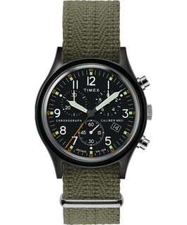Archive MK1 Aluminum Chronograph 40mm Fabric Watch Black/Green large