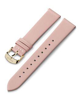 Cinturino in pelle da 18 mm con fibbia dorata Rosa large