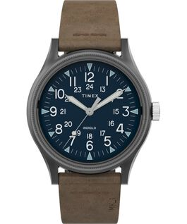 MK1 Steel 40 mm con cinturino in pelle Gunmetal/Brown large