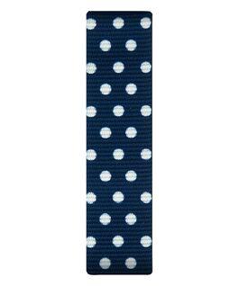 Cinturino a scorrimento in nylon blu con pois bianchi  large