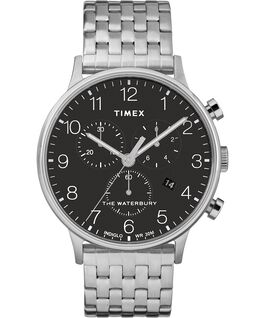 Waterbury 40mm Classic Chrono Stainless Steel Watch Stainless-Steel/Black large