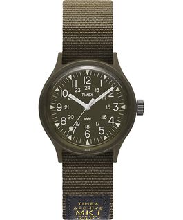 MK1 Military 36 mm con cinturino in gros-grain  Nero/Verde large