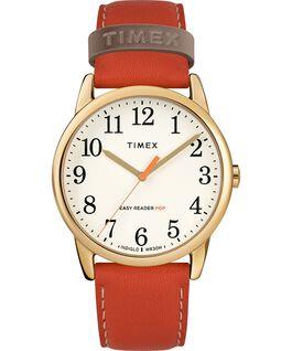 Orologio-da-donna-con-cinturino-in-pelle-Easy-Reader-Color-Pop-38-mm-in-esclusiva Dorato/Arancione/Crema large