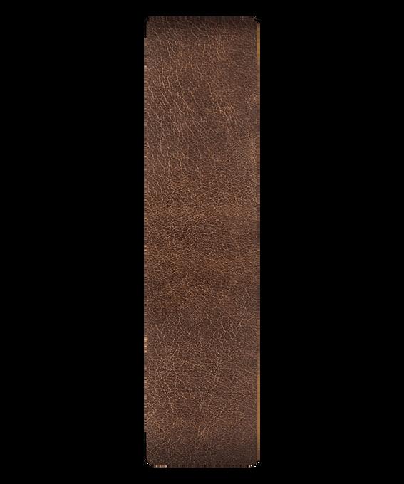 Cinturino a scorrimento in pelle con estremità marrone/bronzo  large