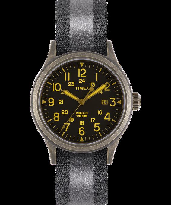 Orologio con cinturino in tessuto reversibile e riflettente Allied 40mm Dorato/Nero large
