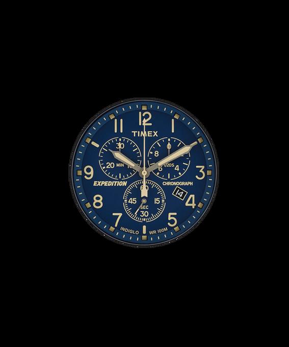 Quadrante blu/Lancetta dei secondi crema  large