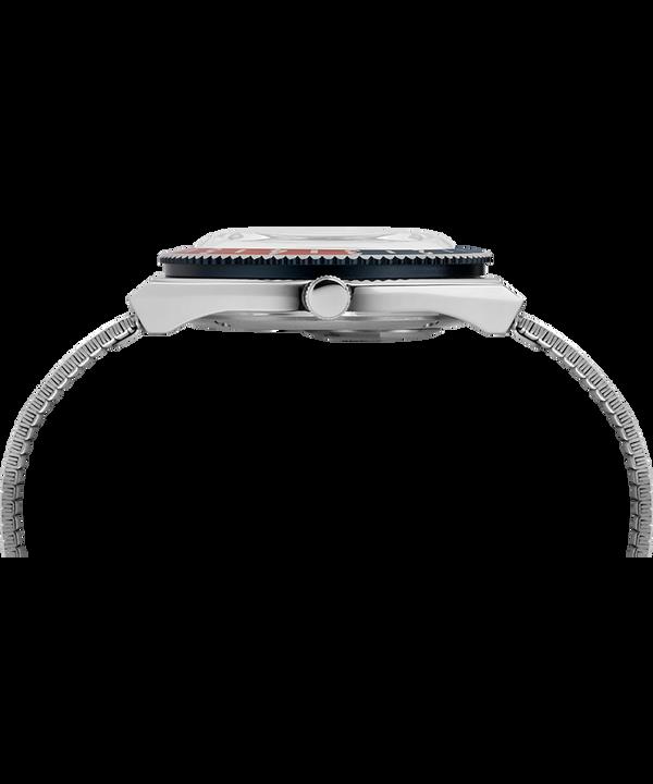 Orologio riedizione Q Timex da 38mm con bracciale in acciaio inossidabile Acciaio inossidabile/Blu large