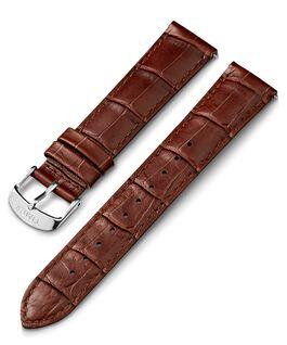 Cinturino in pelle stampa coccodrillo da 20mm Marrone large