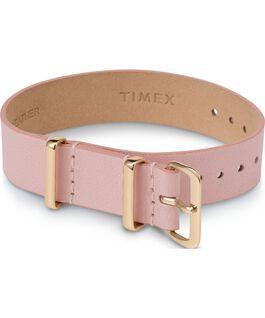 Cinturino a scorrimento in pelle strato singolo da 16mm tonalità oro Rosa large