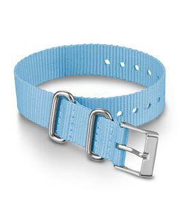 Cinturino slip-thru in tessuto strato singolo da 16 mm Blu large