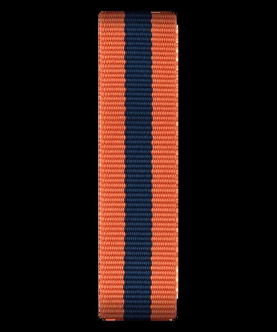 Cinturino a scorrimento in nylon arancione e blu  large