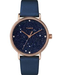 Orologio Celestial Opulence 37 mm con cinturino testurizzato Oro rosa/Blu-CANCRO,LEONE,VERGINE large