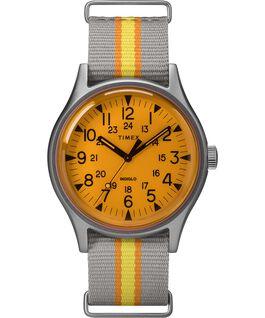 MK1 California 40 mm con cinturino in tessuto Silver/Grigio/Arancione large