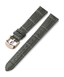Cinturino in pelle stampa coccodrillo da 16 mm Grigio large
