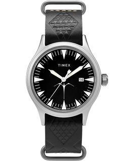 Orologio Timex x Keone Nunes da 40mm con cinturino in pelle Silver/Nero large