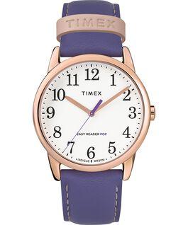 Orologio-da-donna-con-cinturino-in-pelle-Easy-Reader-Color-Pop-38-mm-in-esclusiva Tonalità oro rosa/Viola/Bianco large