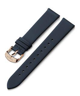 Cinturino in pelle da 18 mm con fibbia tonalità oro rosa Blu large