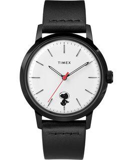 Orologio Timex x Snoopy Space Traveler Marlin Automatic 40 mm con cinturino in pelle Acciaio /Nero/Bianco large