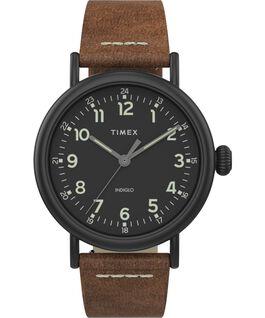Standard 40 mm con cinturino in pelle Black/Brown/Black large