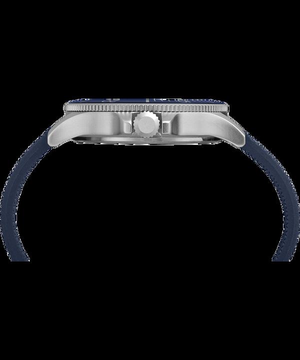 Allied Coastline 43 mm con cinturino in silicone  Silver-Tone/Blue large