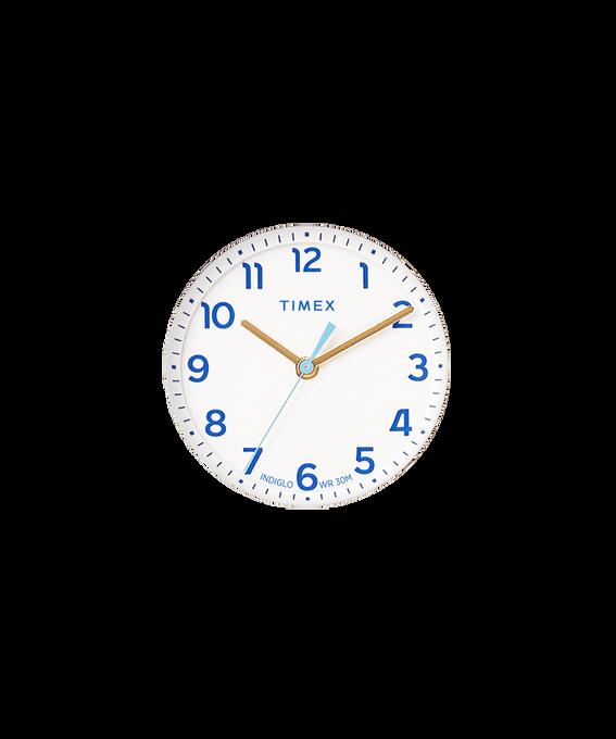 Quadrante bianco/Lancetta dei secondi blu chiaro  large