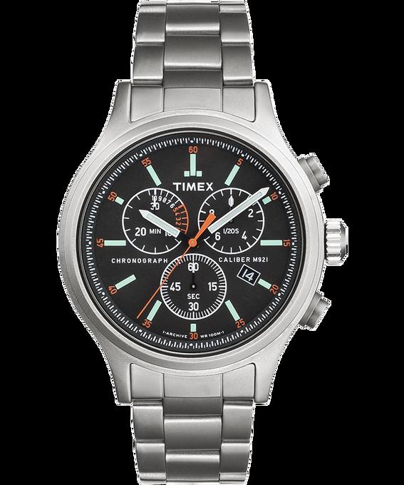 Cronografo Allied con bracciale in acciaio inossidabile da 42mm e tacche delle ore Silver/Acciaio inossidabile/Nero large