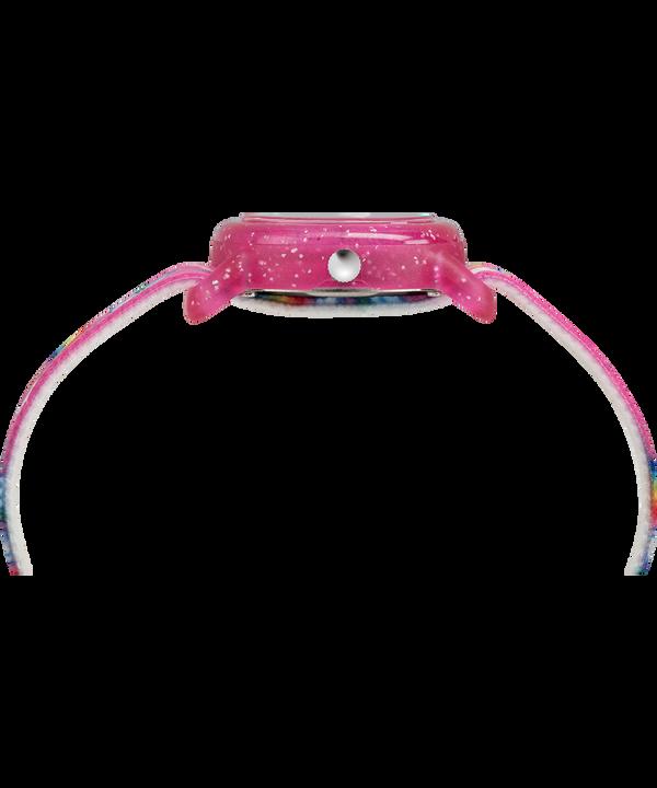 Kids Analog 28 mm con cinturino in tessuto elastico  Pink/White large