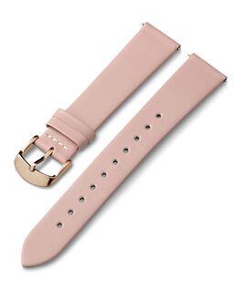 Cinturino in pelle da 18 mm con fibbia tonalità oro rosa Rosa large