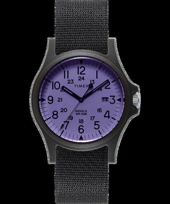 Acadia 40 mm con cinturino in tessuto  Black/Purple large
