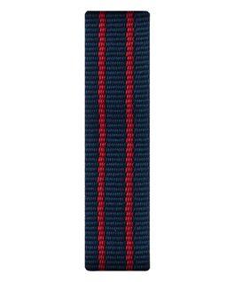 Cinturino a scorrimento in nylon rosso e blu  large