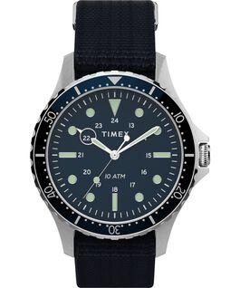 Navi XL 41mm Fabric Slip Thru Strap Watch Stainless-Steel/Blue large