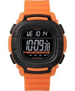 OROLOGIO BST.47 47MM CON CINTURINO IN SILICONE Orange/Black large