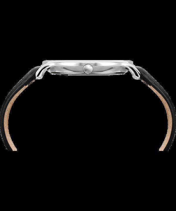 Metropolitan 40 mm con cinturino in pelle Silver-Tone/Black large