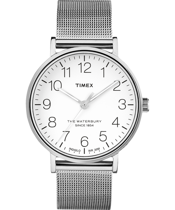 Orologio Waterbury Classic 40 mm con bracciale in maglia mesh  Stainless-Steel/White large