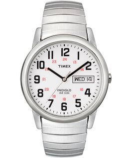 Easy Reader 35mm Stainless Steel Watch Day Date Silver-Tone/Stainless-Steel/White large